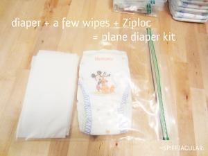 Diaper kit for flying on a plane - spifftacular.wordpress.com