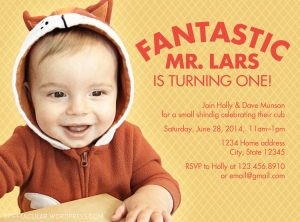 Invite for Fantastic Mr. Fox party! | spifftacular.