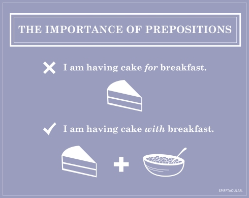 The importance of prepositions | spifftacular.